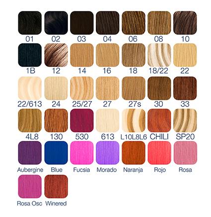 colores extensiones ramal