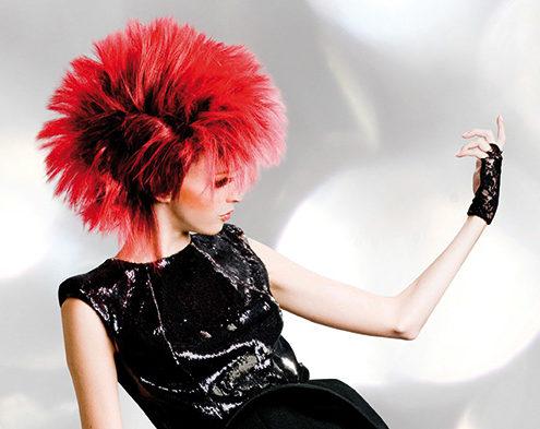 peluca fantasia pelo sintetico